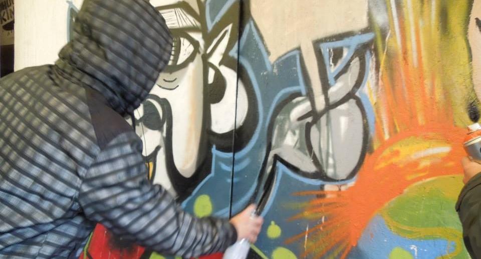 Graffiti als jugendlicher Sprayer in der Temeswarer Szene